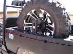 Polaris Ranger & General Portable Spare Tire Mount Fits Polaris all years all models.