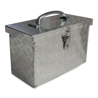 Diamond Plate Aluminum Tool Box 12