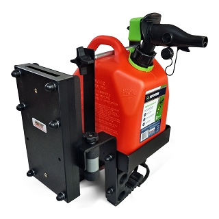 Polaris Ranger Universal Fuel, Chainsaw Scabbard, and Integrated Fire Extinguisher Mount