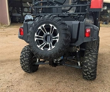UTV Universal Receiver Hitch Spare tire mount Scorpion Swing-Away