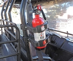 UTV Roll Bar Mount Fire Extinguisher Bracket