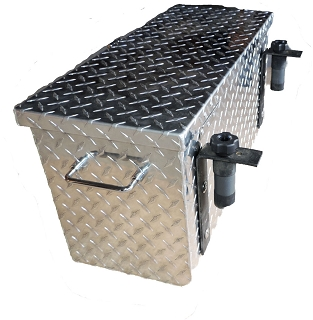 R 3027  Polaris FULL SIZE Ranger R 3027   Diamond Plate Aluminum Tool Box LARGE