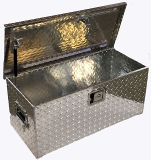R 3025 ATV/UTV Diamond Plate Aluminum Tool Box LARGE