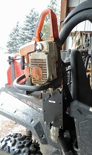 UTV Roll Bar Universal Chainsaw Mount Fits Most UTV's with 1 1/2