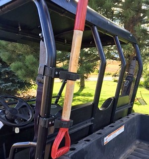 UTV Roll Bar/Bumper Tool Mount for Round Roll Bars